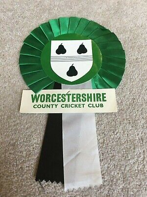 Worcestershire CCC Supporters Rosette 1970's-80's As Sold Outside Grounds Etc • 4.99£