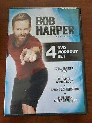 Bob Harper 4-DVD Workout Set (2012) LN/Sealed -Total Trainer Plus/Weight Loss... • 14.30£