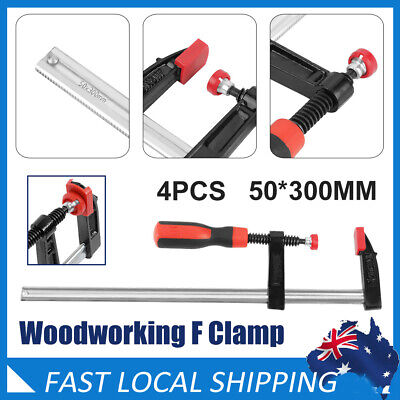 AU29.49 • Buy 4pcs 50x300mm F Type Clamp Wood Woodworking Clamp Clip Bar Adjustable AU Stock