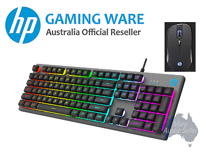 AU59.49 • Buy HP Gaming Metal Panel Keyboard And 6400 DPI Mouse Combo (K500F + G100)