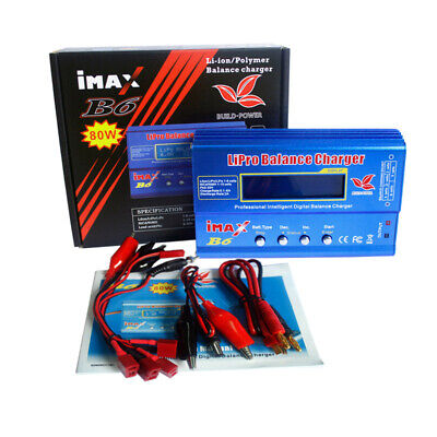 AU50.57 • Buy IMAX B6 LCD Screen RC Lipo Polymer NiMh Battery Balance Charger Power Adapter AU