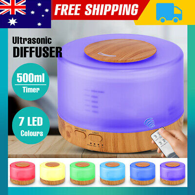 AU30.90 • Buy Ultrasonic Aromatherapy Diffuser Aroma 500ml Humidifier Essential Oil LED