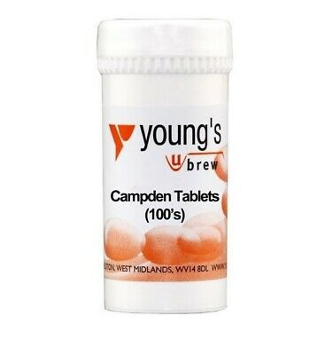 £6.99 • Buy Youngs Home Brewing Wine Making 100 Campden Tablets Sterilising & Preservative