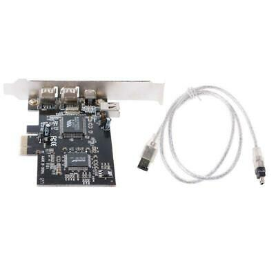 PCI-e 1X IEEE 1394A 4 Port Firewire Card Adapter 6-4 Pin Cable H For Desktop PC • 11.73£