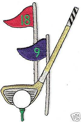 Golf Club Ball Pennant Tee Embroidery Patch • 3.21£