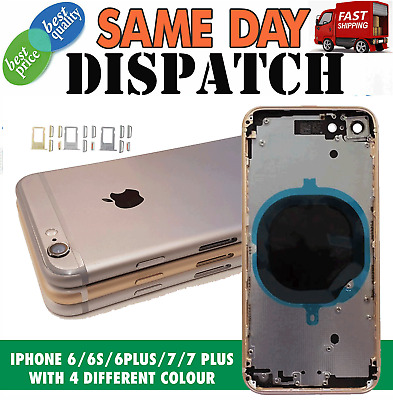 Apple IPhone 6 6S 6+ 6S+ 7 7 Plus Housing Back Rear Frame Cover Replacement • 10.85£