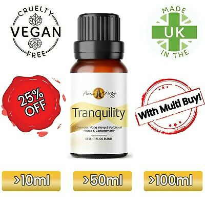 TRANQUILITY Pure Essential Oil Blend Essential Oils To Relax Diffuser Burner • 9.99£