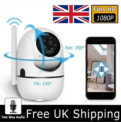 1080P HD Wireless Wifi IP CCTV Camera Smart Home Security Night Vision Baby Pets • 17.59£
