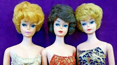 $ CDN251.67 • Buy 3 Vintage Barbie Bubblecut Lot: Platinum, Ash Blonde Fudge Brunette Beauties BIN