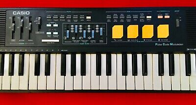 $59.99 • Buy 80's CASIO CASIOTONE MT-220 Keyboard PCM Synth With Drums – AS IS