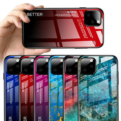 Back Cover For Huawei P20 P30 Lite Mate 20 Pro Fashion Tempered Glass Phone Case • 3.99£