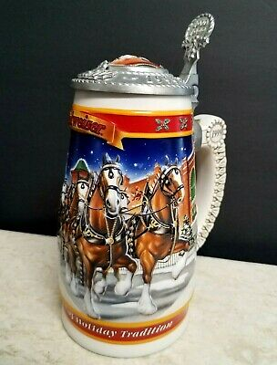 $ CDN30.06 • Buy Vintage 1999 Anheuser Busch Budweiser Century Of Tradition Lid Beer Stein Signed