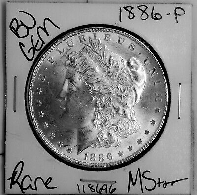 $26 • Buy 1886 GEM Morgan Silver Dollar #118696 BU MS+++ UNC Coin Free Shipping