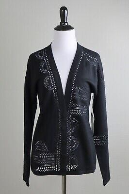 $ CDN50.42 • Buy W BY WORTH New York NWT $198 Wool Soft Knit Sheer Crochet Sweater Top Size Small