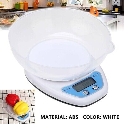 5kg Food Weighing Scale Digital Lcd Electronic Kitchen Cooking Measuring Bowl • 5.49£