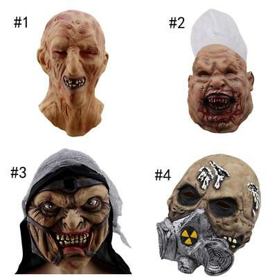 $ CDN15.13 • Buy Emulsion Scary Cover Halloween Horror Realistic Masquerade Bloody Skull Face ON3