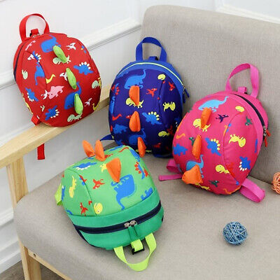 Baby Toddler Backpack Kids Safety Strap Harness Dinosaur Reins-Cartoon Bags • 7.99£