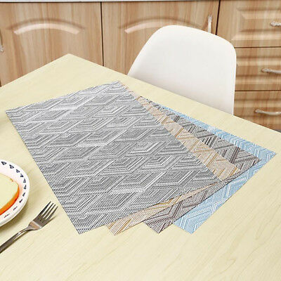 AU5.66 • Buy Washable Non-slip Dining Table Mats Coasters Woven Vinyl Place Mats Placemats ON