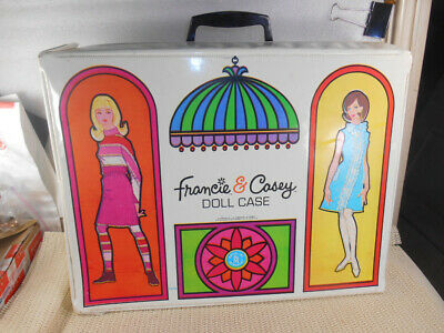 $ CDN13.56 • Buy Vintage MOD Barbie #1025 FRANCIE & CASEY Doll WARDROBE 1966 Mattel CARRYING CASE