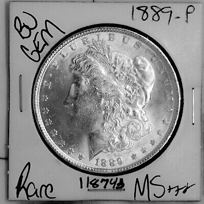 $21.50 • Buy 1889 GEM Morgan Silver Dollar #118743 BU MS+++ UNC Coin Free Shipping