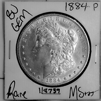 $26.02 • Buy 1884 GEM Morgan Silver Dollar #118739 BU MS+++ UNC Coin Free Shipping