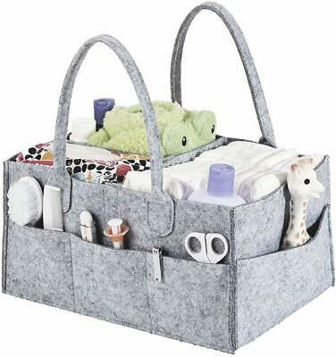 AU18.99 • Buy Diaper Caddy Nursery Storage Baby Organizer Basket Nappy Bin Infant Wipes Bag AU