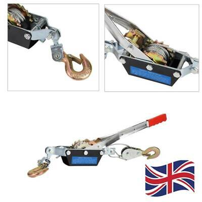 £15.10 • Buy 2 Ton Heavy Duty Cable Puller Hand Winch Fencing Turfer For Car Boat Trailer