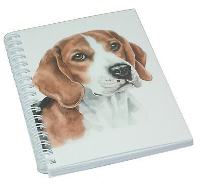 Beagle Dog Illustration Spiral Bound Notebook 50 Blank Pages Perfect Gift  • 5.69£