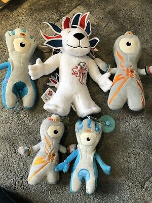 London 2012 Olympic Mascots Plush Toys Mandeville, Wenlock & Team GB Pride Lion • 12.99£