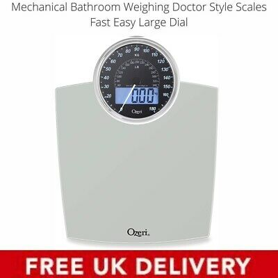 Mechanical Bathroom Weighing Doctor Style Scales Fast Easy Large Dial Black • 29.99£