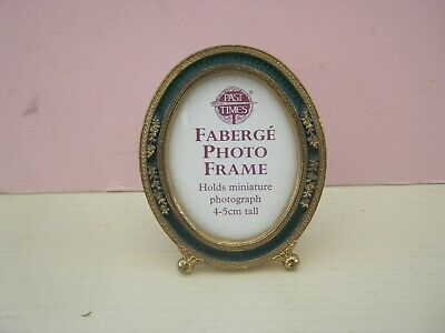 Vintage Faberge Photo Frame Past Times Very Good Miniature 6.5 Cm Tall • 8£