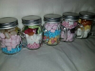£17.99 • Buy Party Favours Children/wedding - Mini Mason Jars With Sweets X 10.