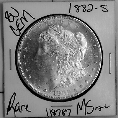 $26 • Buy 1882 S GEM Morgan Silver Dollar #118787 BU MS+++ UNC Coin Free Shipping