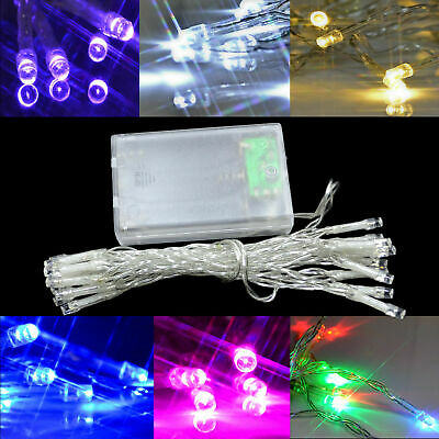 LED String Fairy Lights Battery Twinkle Decor For Party Christmas Garden Outdoor • 4.29£