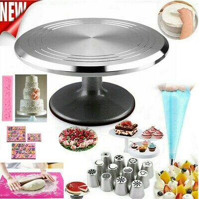 12  Cake Turntable Kitchen Rotation Decorating Revolving Display Stand / Moulds • 4.99£