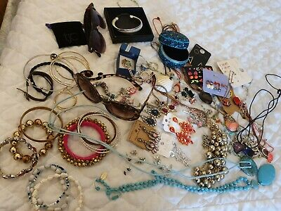Jewellery Joblot Bundle House Clearance Pre-owned To For Crafts Upcycle Or  Wear • 7£