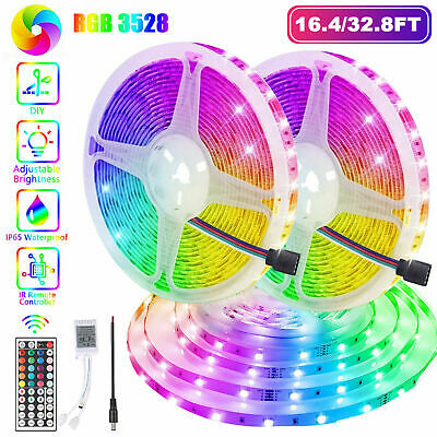 $19.95 • Buy 32FT Flexible 3528 RGB LED SMD Strip Light Remote Fairy Lights Room TV Party Bar