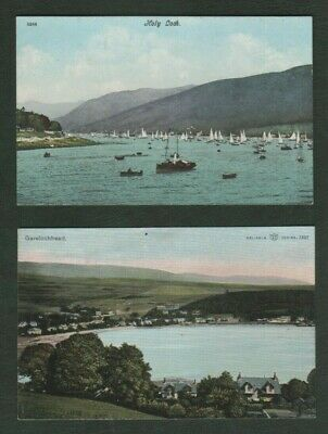 2 Vintage Argyll Postcards - Garelochhead And Holy Loch • 1£