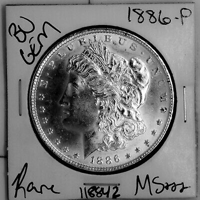 $4.25 • Buy 1886 GEM Morgan Silver Dollar #118842 BU MS+++ UNC Coin Free Shipping