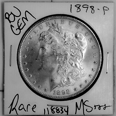 $4 • Buy 1898 GEM Morgan Silver Dollar #118834 BU MS+++ UNC Coin Free Shipping