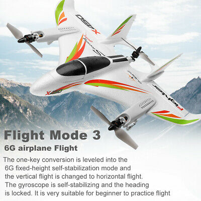 WLtoys XK X450 2.4G 6CH RC RTF Airplane Aircraft Fixed Wing RC Helicopters H3O4 • 89.90£