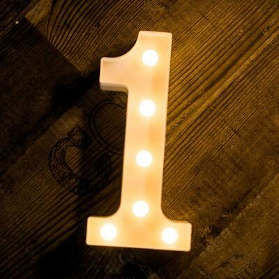 £6.99 • Buy LED Alphabet Letters Lights Large Light Up Plastic Numbers Party Birthday Sign