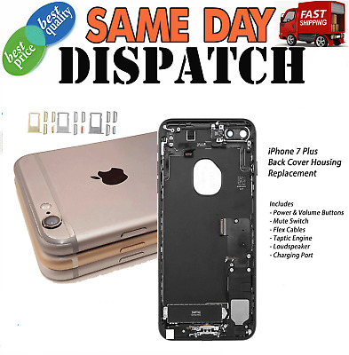 For Apple IPhone 7 Plus Back Housing Rear Battery Cover Replacement With Parts • 19.99£