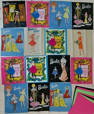 $ CDN47.45 • Buy 15 Vintage Vinyl Barbie Ponytail Bubblecut Skipper Graphics Case Fronts OOAK BIN