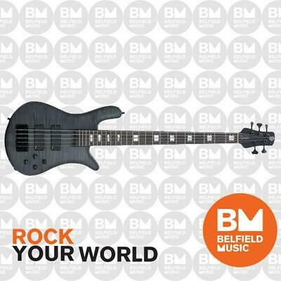 AU3499 • Buy Spector Euro5 LX Bass Guitar 5-String Trans Black Stain Matte W/ EMGs -Brand New