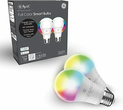 View Details C By GE - Full Color A-19 2-pack - Smart App Controlled White • 29.99$