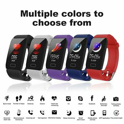 AU26.99 • Buy Fitness Smart Watch Activity Tracker Women Men Kid Fitbit Android IOS Heart Rate