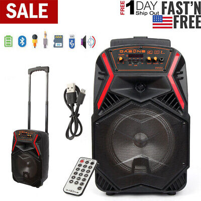 $49.99 • Buy 8  Portable FM Bluetooth Speaker Subwoofer Heavy Bass Sound System Party 1000W