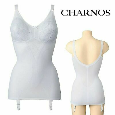 £9.99 • Buy Charnos Hourglass Soft Cup Suspender Corselette Size 34d White Ch4672
