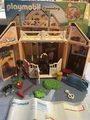 Playmobil Country My Secret Pony Horse Pack Away Stable Set Farm 5418 • 9.99£